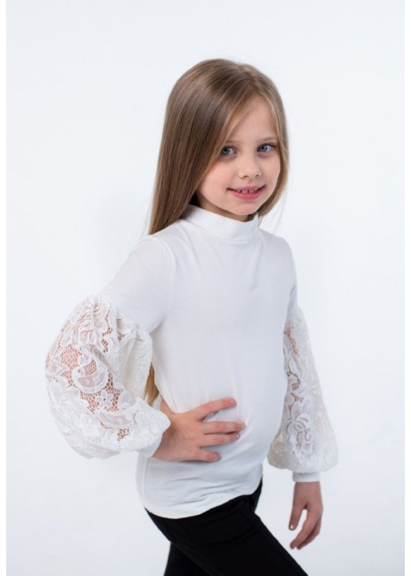 Кофта для девочек - G-20922W_молочный