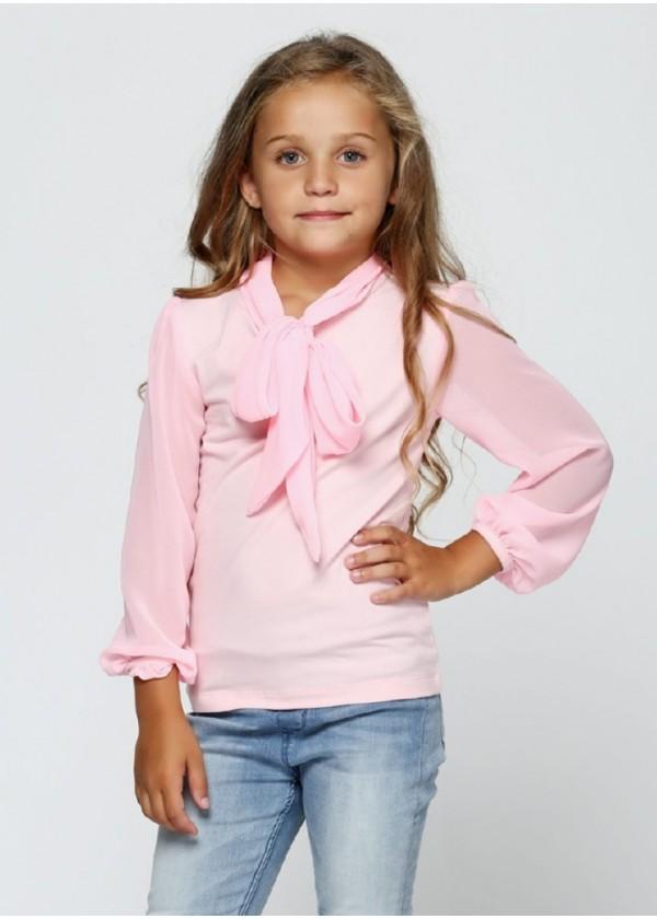 Кофта для девочек - G-17547W_розовый