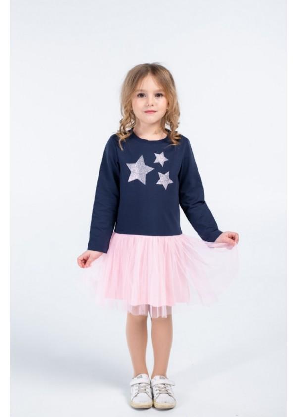 Сукня для дівчаток - G-20854W_синий