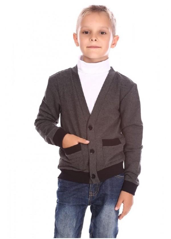 Кардиган для хлопчиків - B-14410W-1_серый
