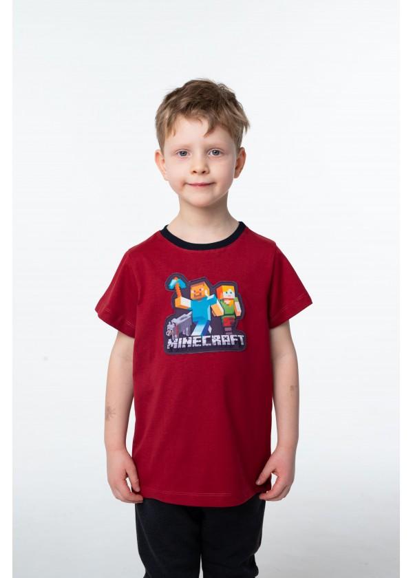 Футболка для мальчиков - B-21379S_бордовый