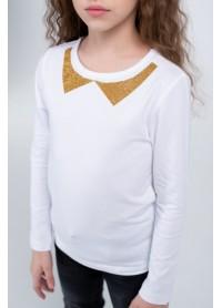 Кофта для девочек - G-20914W_белый+золото