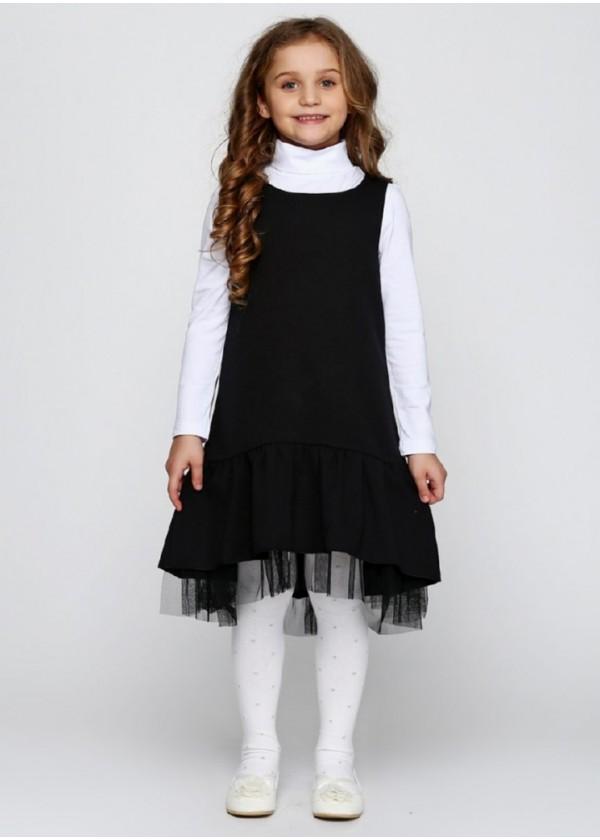 Сарафан для девочек - G-17046W1_черный