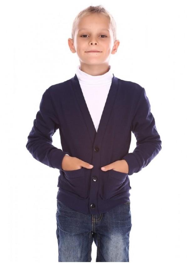 Кардиган для хлопчиків - В-14410W_синий