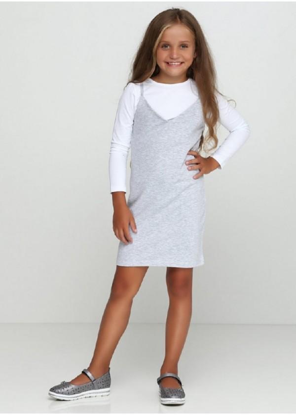 Сарафан для девочек - G-18805W_серый