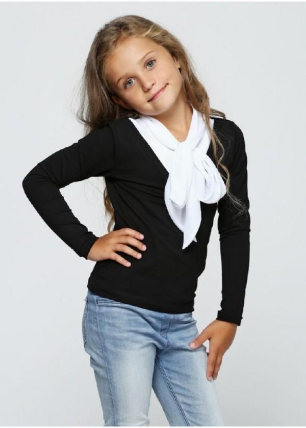 Кофта для дівчаток - G-17554W_черный+белый