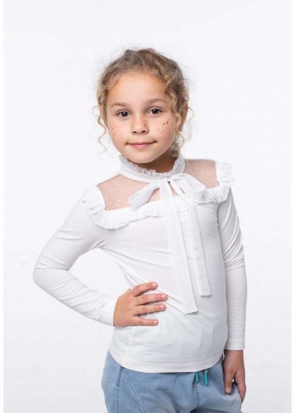 Кофта для девочек - G-20923W_молочный