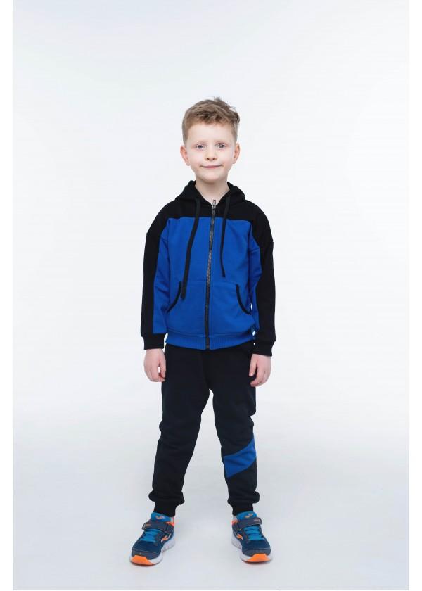 Костюм для мальчиков - В-21639W_черный+синий