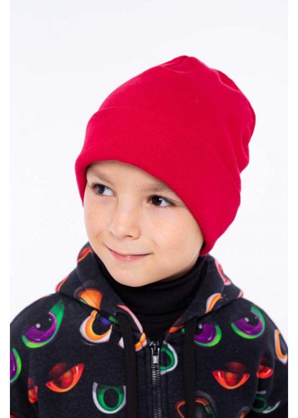 Шапка для мальчиков - K-2012W_красный