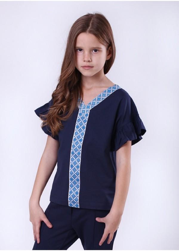 Кофта для дівчаток - G-19903W_синий с голубым