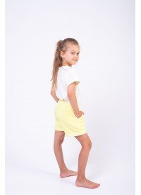 Шорты для девочек - G-21151S_лимонный