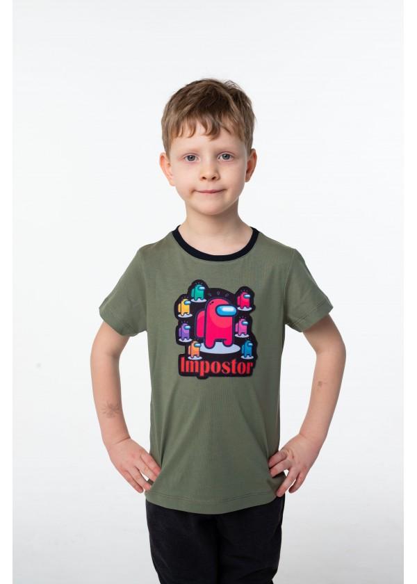 Футболка для мальчиков - B-21379S_оливковый