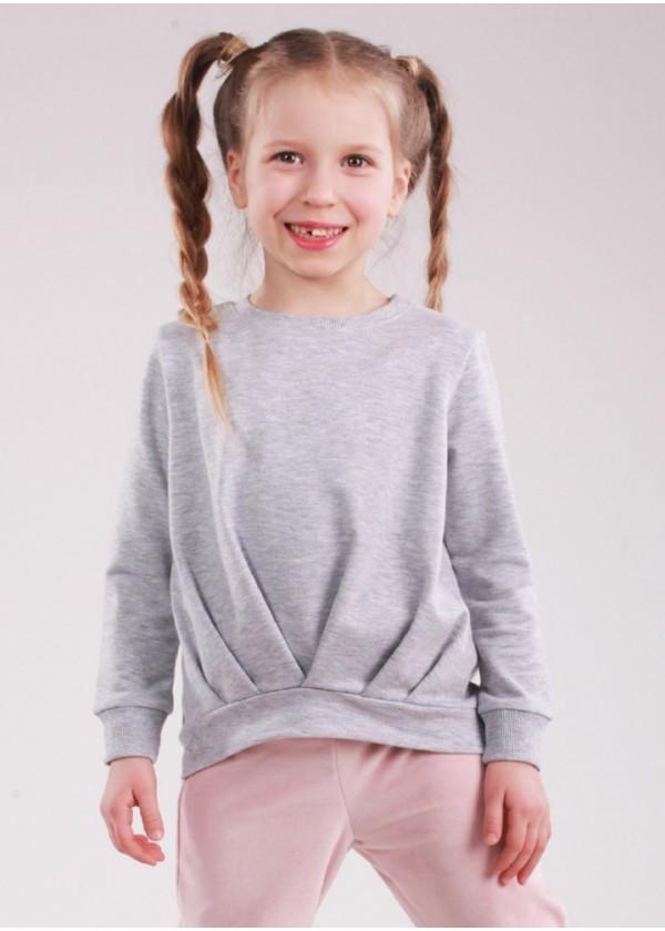 Реглан для девочек - G-18570W_серый