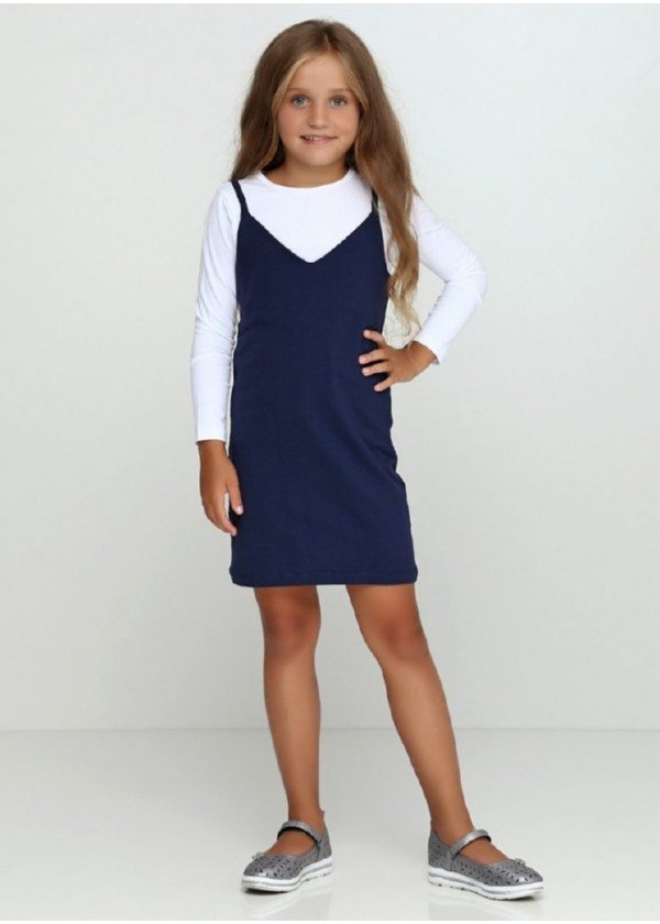 Сарафан для девочек - G-18805W_синий