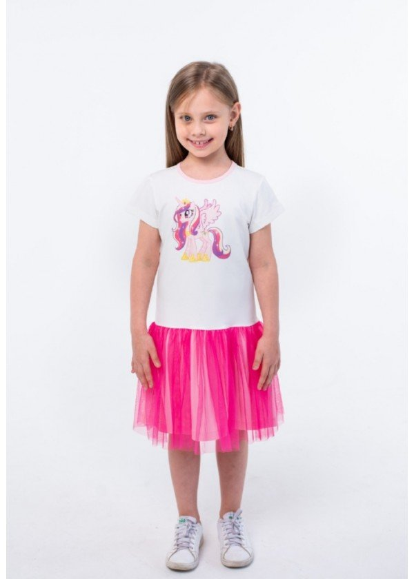 Платье для девочек - G-20863S_малиновый