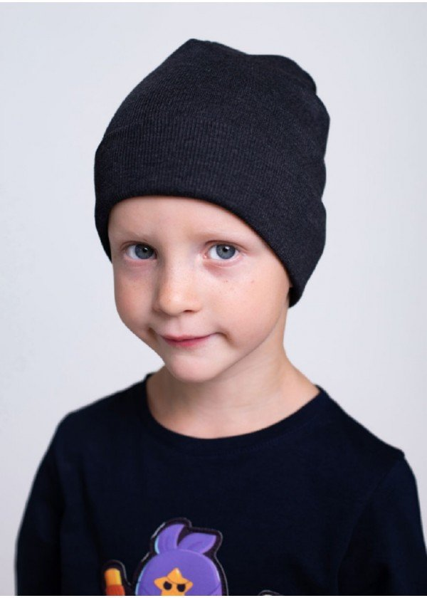 Шапка для мальчиков - K-2012W_антрацит
