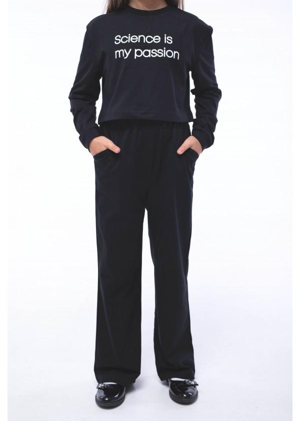 Штаны для девочек - G-21152W_черный