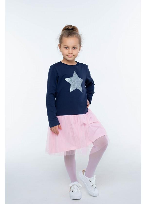 Платье для девочек - G-20869W_синий