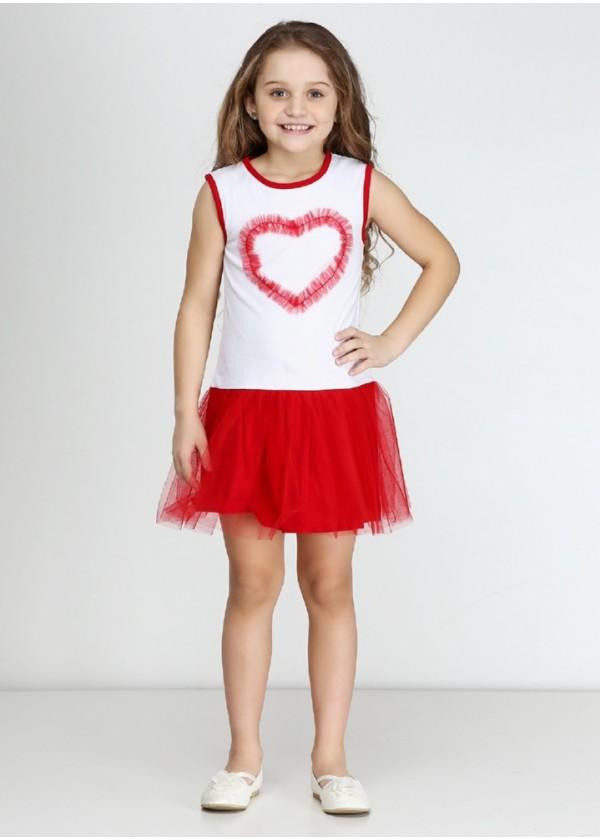 Сарафан для девочек - G-16096S_красный