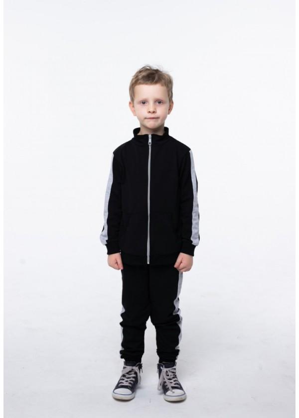Костюм для хлопчиків  - В-20630W_черный