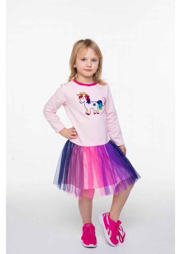 Платье для девочек - G-21874W_розовый