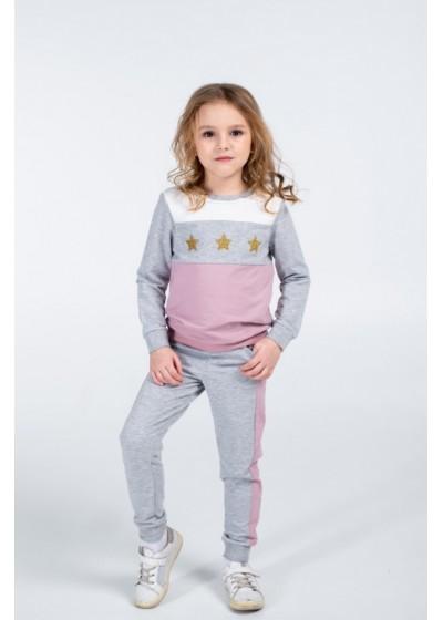 Костюм для девочек - G-20623W_серый