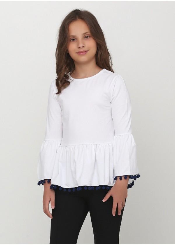 Кофта для девочек - G-19902W_белый