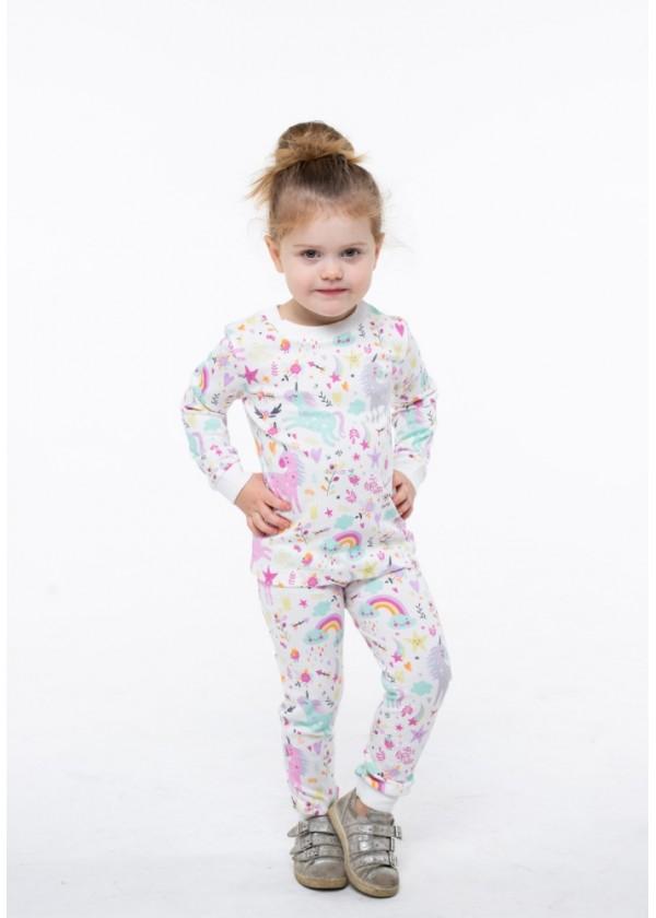 Піжама для дівчаток - G-20633W_молочний