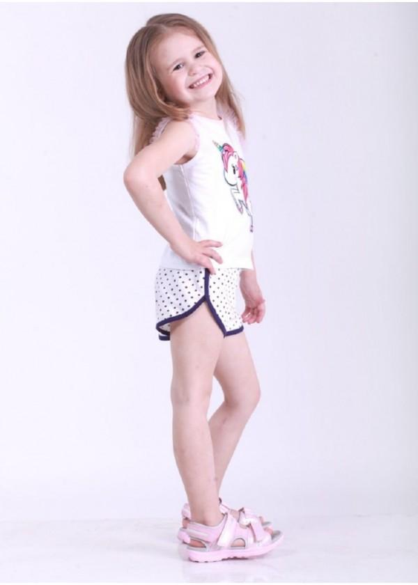 Шорти для дівчаток - G-19144S_белый с фиолетовым