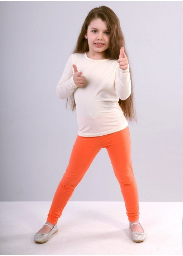 Легінси для дівчаток - G-19142W_оранжевый