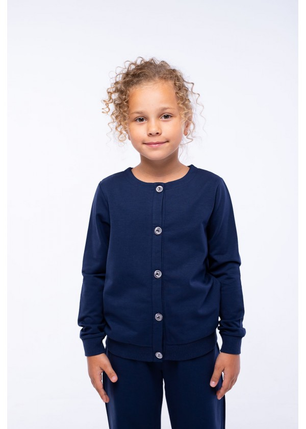 Кардиган для девочек - G-21930W_синий
