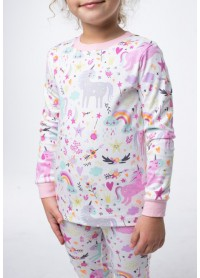 Пижама для девочек - G-20633W_розовый
