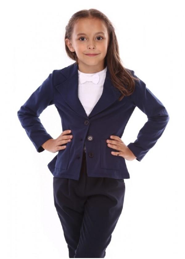 Піджак для дівчаток - G-12233_синий