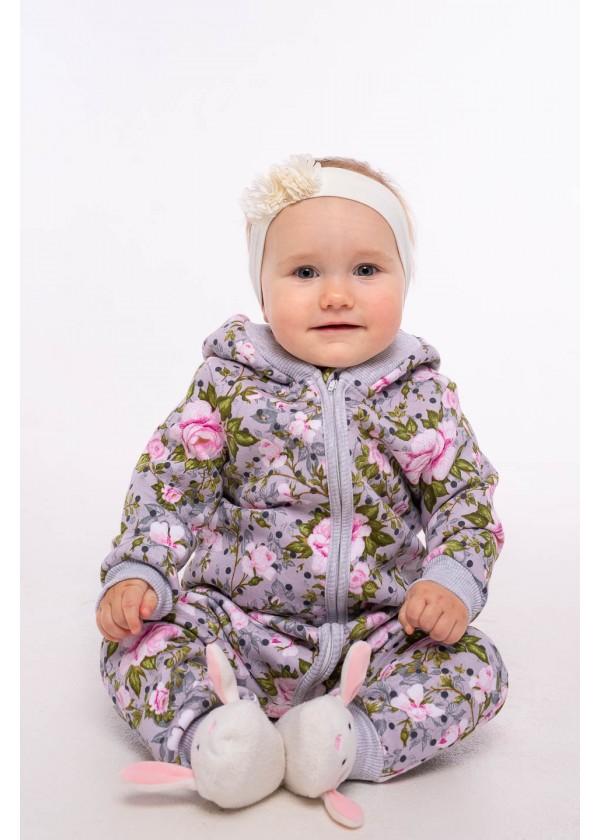 Комбинезон для малышей - К-21496W_серый