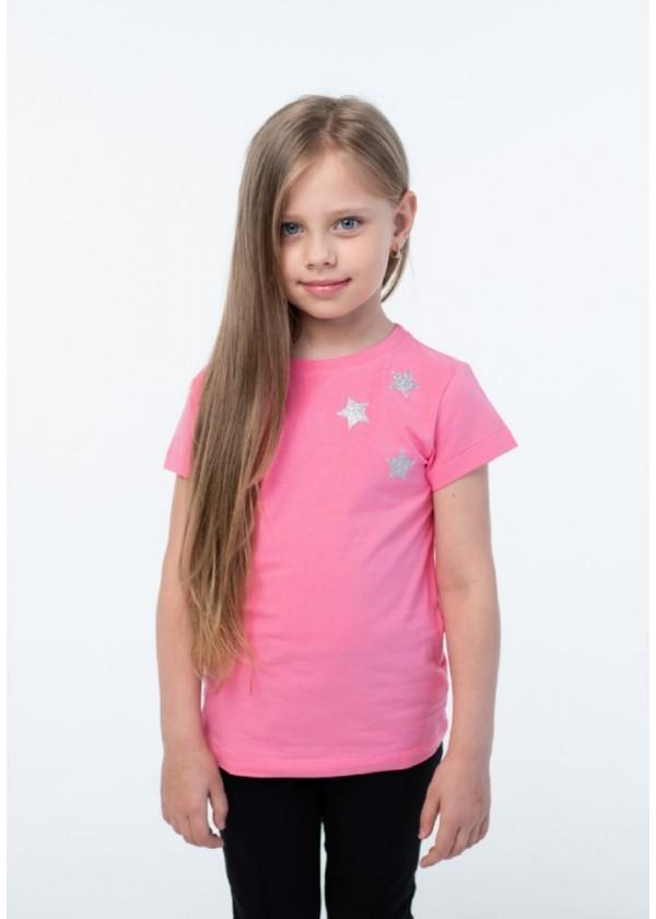 Футболка для девочек - G-20921S_ярк.розовый
