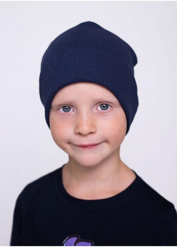 Шапка для мальчиков - K-2012W_синий