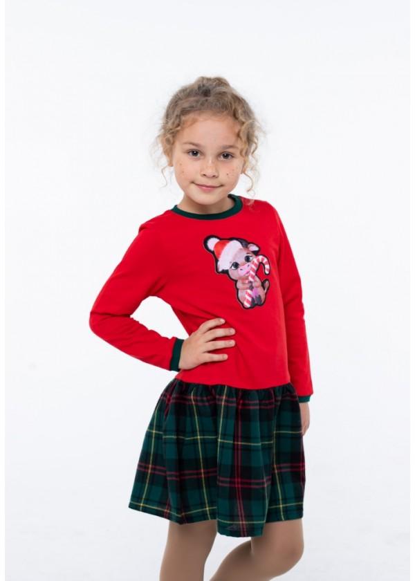 Платье для девочек - G-20867W_красный