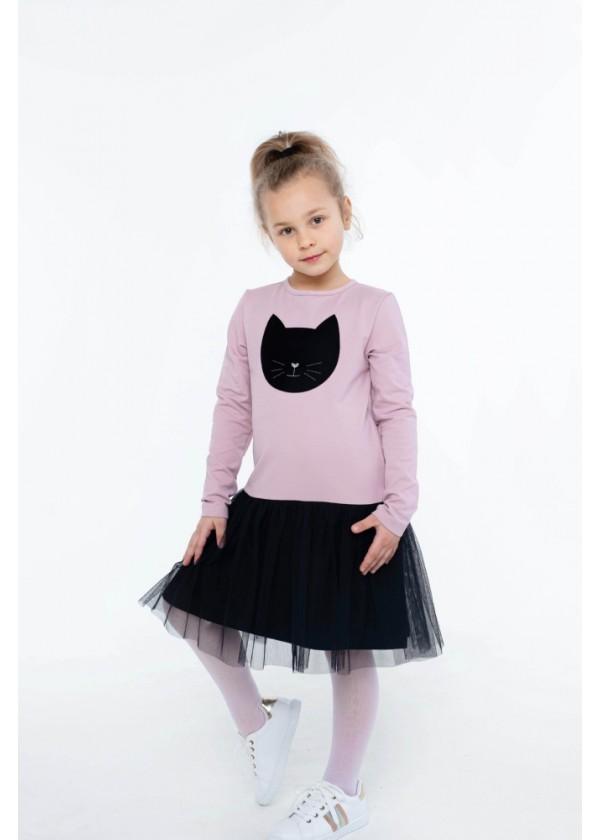 Платье для девочек - G-21871W_пудра