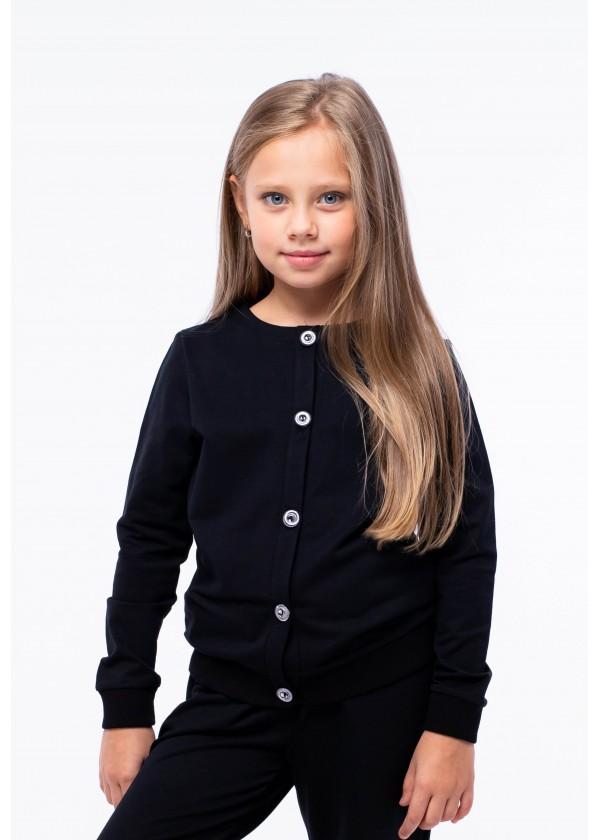 Кардиган для девочек - G-21930W_черный