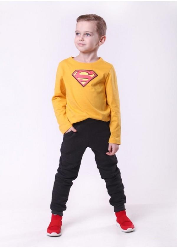 Штаны для мальчиков - B-19476W_темно серый