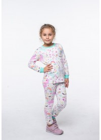 Піжама для дівчаток - G-20633W_мятный