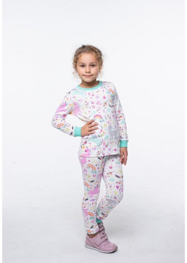 Пижама для девочек - G-20633W_мятный