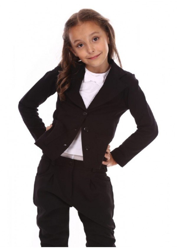 Піджак для дівчаток - G-12233_черный