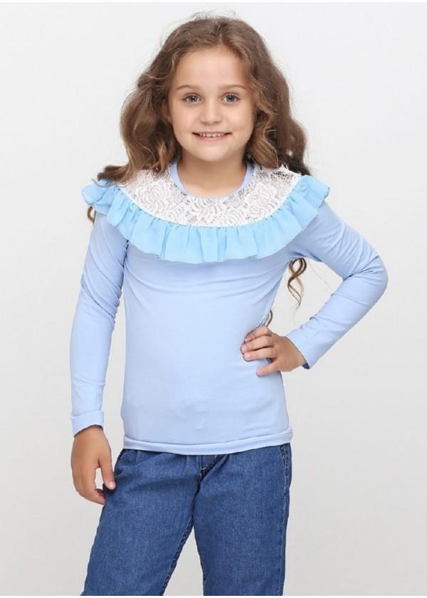 Кофта для дівчаток - G-17553W_голубой