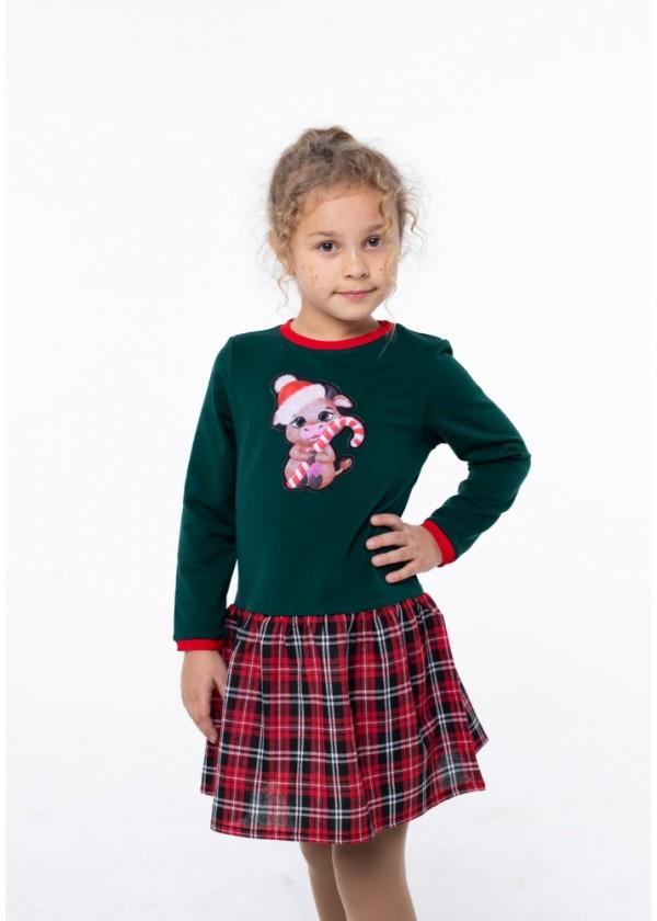 Платье для девочек - G-20867W_зеленый
