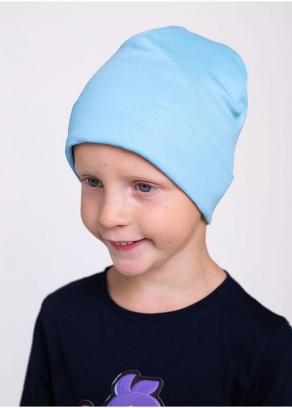 Шапка для мальчиков - K-2012W_голубой