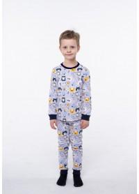Пижама для мальчиков - В-20632W_серый
