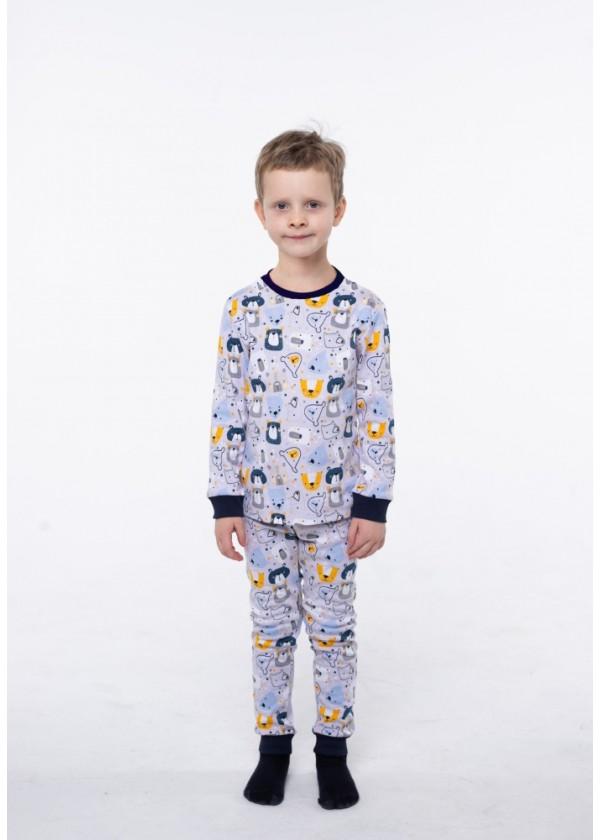 Піжама для хлопчиків - В-20632W_серый