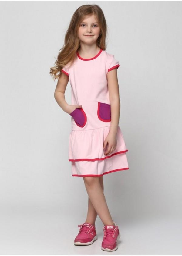 Сарафан для девочек - G-17038S_розовый