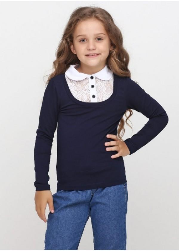 Кофта для девочек - G-18575W_синий
